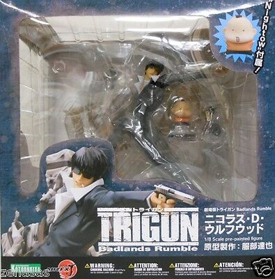 New ARTFX J Trigun Badlands Rumble Nicholas D. Wolfwood Pre-painted Kotobukiya