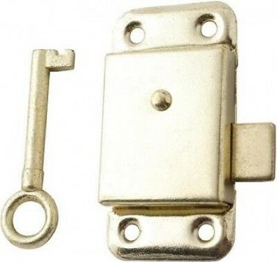 Basic Wardrobe Lock Electro Brass 63mm