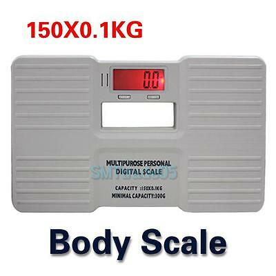 LCD Digital Bathroom Scale Fat Weight Body Scale Hydration Muscle 330LB/150Kg S5