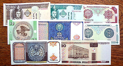 WORLD Bank Notes Various Countries 8 Different NEW SALE PRICE FP3172