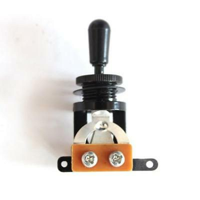3 Way Toggle Switch Pickup Selectors for Electric Guitar ,black /black tip
