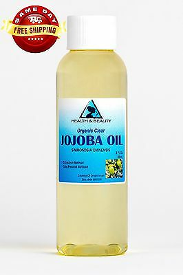 JOJOBA OIL CLEAR ORGANIC by H&B Oils Center COLD PRESSED PREMIUM 100% PURE 2 OZ