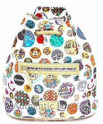 NEW Disney Dooney & Bourke Mickey Mouse BUTTONS Icons Drawstring Backpack Bag