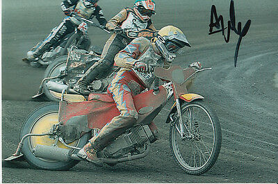 Andrew Tully Hand Signed Scunthorpe Scorpions Speedway 6X4 Photo 1.