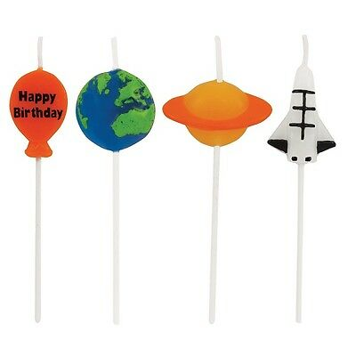 Space Blast   Rocket   Planets Party   Happy Birthday   Cake Candles 1-36pk