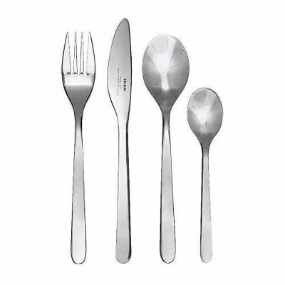 24 Piece (Knife, Fork, Spoon) Stainless Steel Camping Travel Cutlery Ikea Set