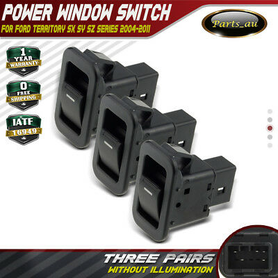 3x Single Power Window Switches for Ford Territory SX SY TX Non-illuminated