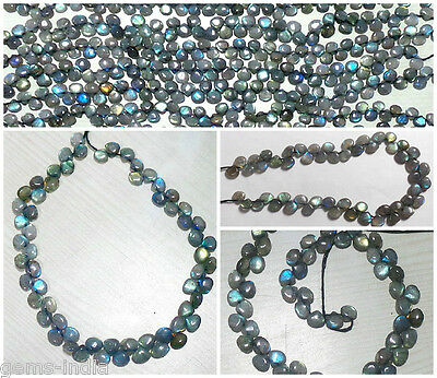 87+ Ct Natural Pear Rainbow Shine Unheated Labradorite Drilled Beads/briolettes