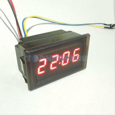 Waterproof Red LED Electronic Digital Time Clock Display Car Vehicles 4.5-30V