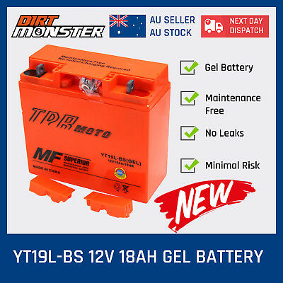 12V 18Ah YT19BL BS Motorcycle GEL Battery FOR BMW Motorbike 750/850/1200/1600 cc