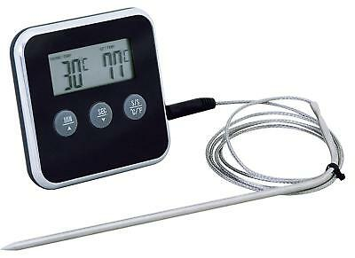 Eddingtons Professional Digital Meat Thermometer Timer  Remote Probe Oven Roast