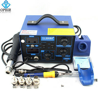 2 in 1 SAIKE 220V EU Plug 952D Soldering Rework Station+Hot Air Gun _KD173(220V)