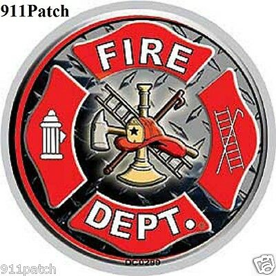 FIRE DEPARTMENT Logo Shield Fire Rescue 1st Responder Window Decal Sticker