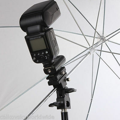 Flash Bracket B Shoe Umbrella Holder Swivel Light Stand for Canon Nikon camera