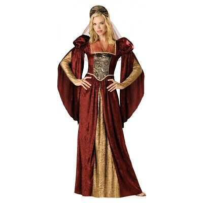 Renaissance Costume Adult Juliet Medieval Maiden Princess Queen Fancy Dress