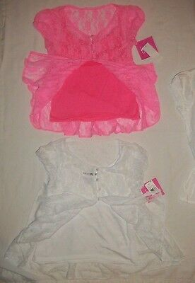 NEW Girls Tank Top Size Large 10-12 Pink Pineapple Lace Back Shirt