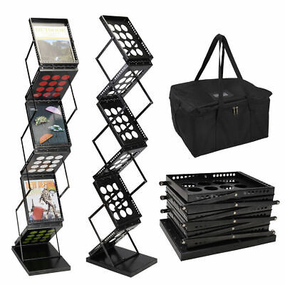 6 Pocket Magazine Display Holder Literature Rack Pop-up Folding Brochure Rack