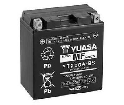 Yuasa YTX20A-BS Motorcycle Battery with activation pack