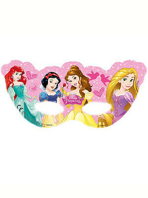 6 x Disney Princess Birthday Party Masks Ideal Loot Favor Favour Bag Fillers
