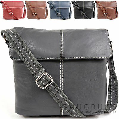 Ladies / Womens Soft Premium Leather Cross Body Bag / Shoulder Bag