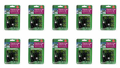 10x Botanico Wigwam & Cage Connector Kit 11mm For Bamboo & Plastic Coated Metal