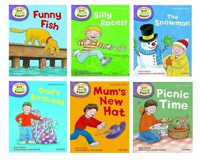 Level 2 Oxford Reading Tree Biff Chip Kipper First Stories Collection 6 Book Set