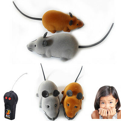 Remote Controlled Cat Toy Kids RC Rats Mouse Prank Home Mice Scary Pets Gift