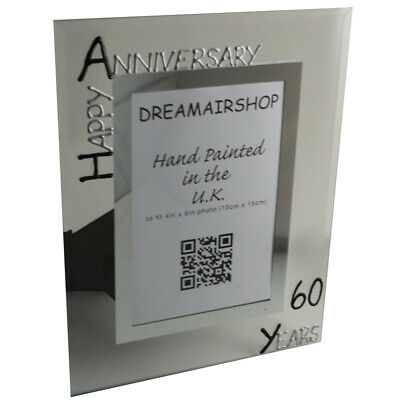 60TH WEDDING ANNIVERSARY Picture Frame New Wood 4x6 Photo ...
