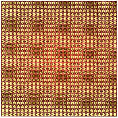Red Smileys Blotter Art  - Acid House Top Quality Printed And Perforated