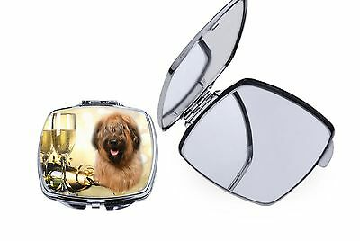 Briard Dog Square Curved Edge Metal Compact Mirror MRBRIARD-1 by paws2print