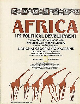 1980 Political History Map Colonial AFRICA Ortelius Railroad Airports Oil Fields