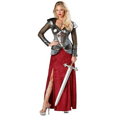Knight Costume Adult Medieval Joan of Arc Halloween Fancy Dress