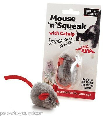 Cat toy catnip squeaking mouse squeak sharples'n'grant ruff 'n'tumble toys