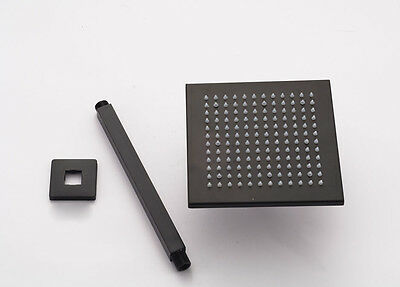 """Ceiling Mounted  Shower Pipe Oil Rubbed Bronze 10"""" Square Rain Shower Head"""