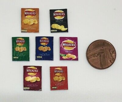 Dolls House Miniature 7 Packets of Crisps (DD052)  Additional Items P&P FREE