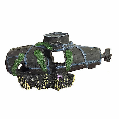 Aquarium Submarine Sunken Wreck Ornament for Fish Tank Decoration