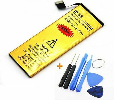 Replacement High Capacity Gold Battery iPhone 5 5S Full Kit Tools Opening batery