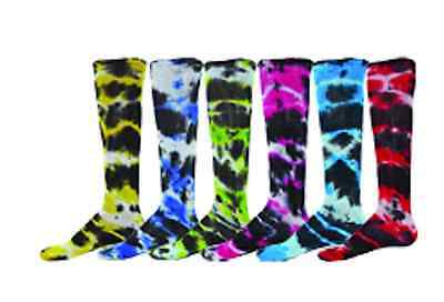 Softball Baseball Soccer Youth Socks Knee Length Bright Tie Dye Red Lion Eclipse