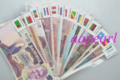 50 countries Banknotes 100% real paper money with flags Brand New Uncirculated