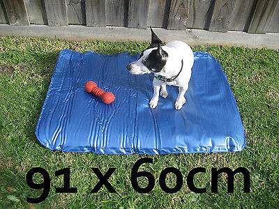 Pet Cooling Bed 91x60 cm Extra Strong Dog Cool Mat Bed Heat Comfort Water Proof