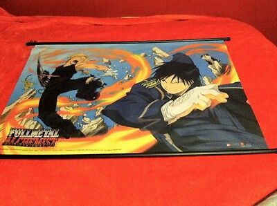 Fullmetal Alchemist Flame v. Metal wall scroll