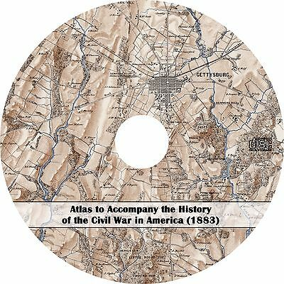 1883 Atlas to Accompany the History of the Civil War in America - Maps on CD