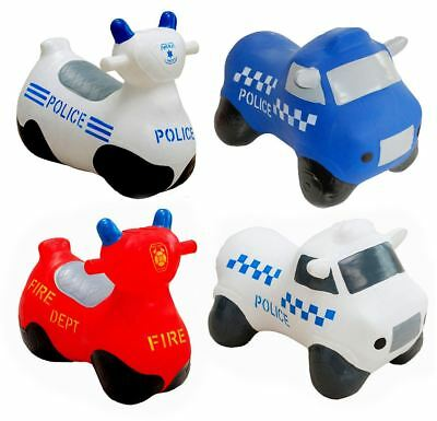 Happy Hopperz Emergency Vehicles 1-5 years Bouncy Ride on Spacehopper