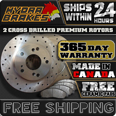 Fits 2009 2010 2011 2012 Ford Fusion Drilled Brake Rotors Ceramic Front