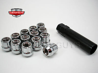 24 LUG NUTS TUNER SPLINE ACORN OPEN END 14x2 CHROME FORD F150 EXPEDITION