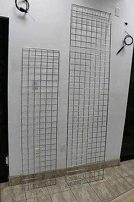 Chrome Grid Wall Panel 2'x8' for retail stores