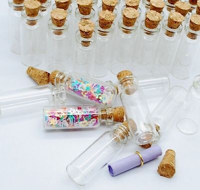 10pcs Mini Glass Bottle Vials Charms Clear Bottles With Cork DIY Home Decoration