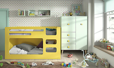 kinderzimmer mit hochbett rutsche 35 farben wunschma. Black Bedroom Furniture Sets. Home Design Ideas