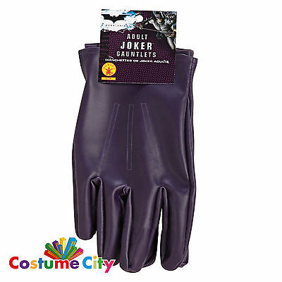 Adults Official Licensed Joker Gloves Batman Dark Knight Fancy Dress Accessory
