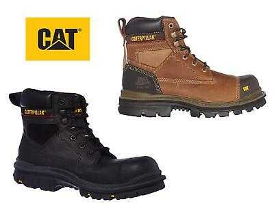 Mens Caterpillar Gravel Steel Toe Cap Safety Boots CAT Heavy Duty Work Boot